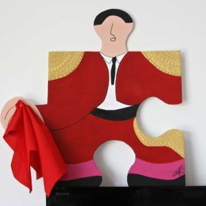 Toréador, peinture acrylique de Christine